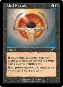 Magic the Gathering Nemesis Single Card Common #60 Mind Swords
