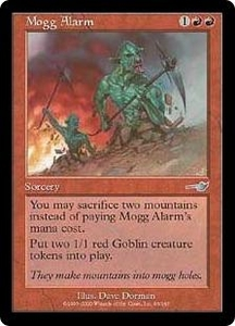 Magic the Gathering Nemesis Single Card Uncommon #93 Mogg Alarm