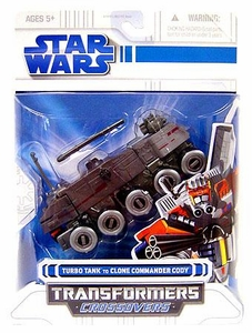 Star Wars Clone Wars 2008 Transformers Crossovers Turbo Tank to Clone Commander Cody