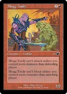 Magic the Gathering Nemesis Single Card Common #95 Mogg Toady