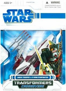 Star Wars 2009 Transformers Clone Trooper to V-Wing Starfighter