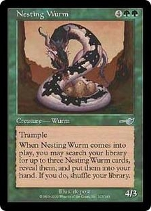 Magic the Gathering Nemesis Single Card Uncommon #107 Nesting Wurm