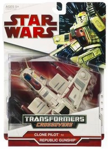 Star Wars 2009 Transformers Clone Trooper to Republic Gunship