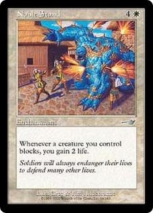 Magic the Gathering Nemesis Single Card Uncommon #14 Noble Stand