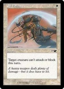 Magic the Gathering Nemesis Single Card Common #15 Off Balance