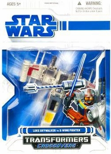 Star Wars 2009 Transformers Luke Skywalker to X-Wing Starfighter
