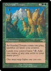 Magic the Gathering Nemesis Single Card Rare #108 Overlaid Terrain