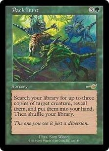 Magic the Gathering Nemesis Single Card Rare #109 Pack Hunt