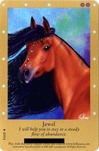 Bella Sara Horses Trading Card Game Series 2 Single Card Foil F12/27 Jewel
