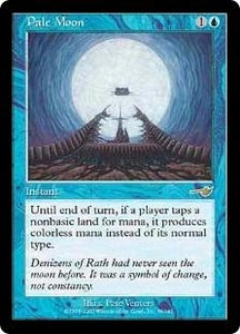 Magic the Gathering Nemesis Single Card Rare #36 Pale Moon