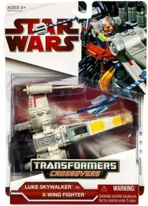 Star Wars 2009 Transformers Crossovers Luke Skywalker to X-Wing Fighter