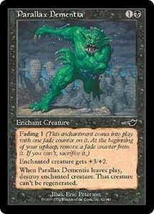 Magic the Gathering Nemesis Single Card Common #62 Parallax Dementia