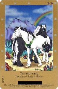 Bella Sara Horses Trading Card Game Series 2 Single Card Foil F27/27 Yin and Yang