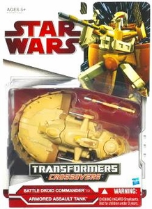 Star Wars Clone Wars 2009 Transformers Crossovers Battle Droid Commander to Armored Assault Tank