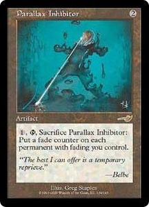 Magic the Gathering Nemesis Single Card Rare #134 Parallax Inhibitor