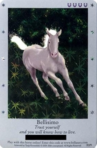 Bella Sara Horses Trading Card Game Series 1 Single Card Foil F2/9 Bellisimo