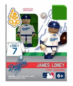 OYO Baseball MLB Building Brick Minifigure James Loney [Los Angeles Dodgers]