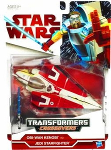 Star Wars Clone Wars 2009 Transformers Crossovers Jedi Starfighter to Obi-Wan Kenobi