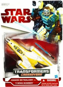 Star Wars Clone Wars 2009 Transformers Crossovers Y-Wing to Anakin Skywalker