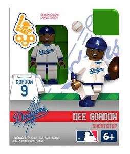 OYO Baseball MLB Building Brick Minifigure Dee Gordon [Los Angeles Dodgers]