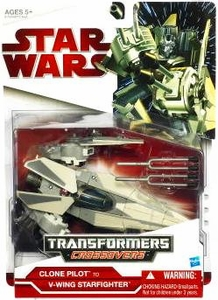 Star Wars 2009 Transformers Clone Pilot to V-Wing Starfighter