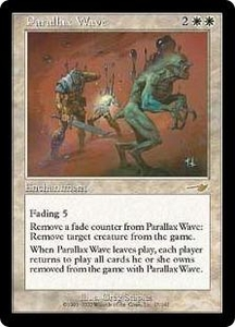 Magic the Gathering Nemesis Single Card Rare #17 Parallax Wave