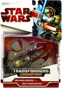 Star Wars 2009 Transformers Obi-Wan Kenobi to Jedi Starfighter