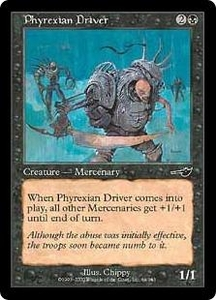 Magic the Gathering Nemesis Single Card Common #64 Phyrexian Driver
