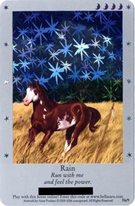 Bella Sara Horses Trading Card Game Series 1 Single Card Foil F6/9 Rain