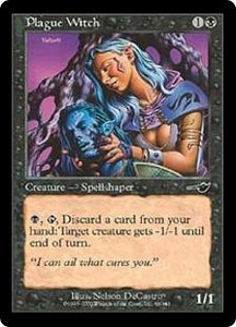 Magic the Gathering Nemesis Single Card Common #66 Plague Witch