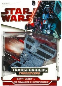 Star Wars 2009 Transformers Darth Vader to TIE Advanced X1 Fighter