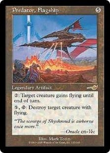 Magic the Gathering Nemesis Single Card Rare #135 Predator, Flagship