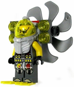 LEGO Atlantis LOOSE Mini Figure Ace Speedman with Propeller, SCUBA Gear & Searchlights