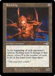 Magic the Gathering Nemesis Single Card Uncommon #136 Rackling
