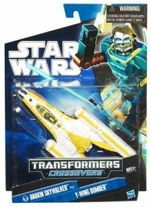 Star Wars 2010 Transformers Crossovers Anakin Skywalker to Y-Wing Starfighter