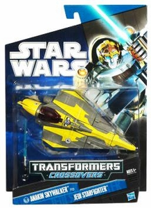 Star Wars 2010 Transformers Crossovers Anakin Skywalker to Jedi Starfighter