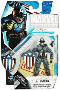 Hasbro 2010 SDCC San Diego Comic-Con Exclusive Marvel Universe 3 3/4 Inch Action Figure Ultimate Captain America
