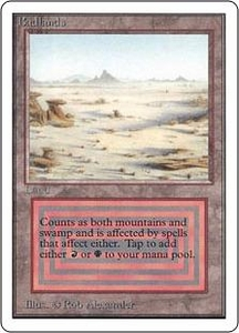 Magic the Gathering Unlimited Edition Single Card Rare Badlands