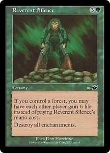 Magic the Gathering Nemesis Single Card Common #111 Reverent Silence