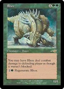 Magic the Gathering Nemesis Single Card Rare #112 Rhox
