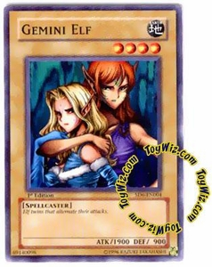 YuGiOh Spellcaster's Judgment Single Card SD6-EN004 Gemini Elf