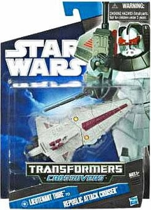 Star Wars 2010 Transformers Crossovers Commander Thire to Republic Attack Cruiser