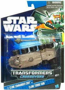 Star Wars 2010 Transformers Crossovers Commander Cody to Clone Turbo Tank