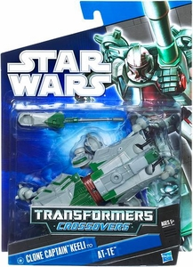 Star Wars 2010 Transformers Crossovers Clone Captain Keeli to AT-TE