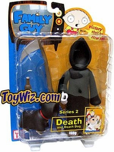 Family Guy Mezco Series 2 Action Figure Death with Death Dog Very Rare!