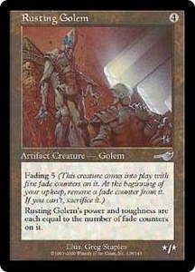 Magic the Gathering Nemesis Single Card Uncommon #138 Rusting Golem