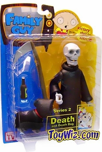 Family Guy Mezco Series 2 Action Figure VARIANT Skull Death with Death Dog