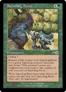 Magic the Gathering Nemesis Single Card Rare #113 Saproling Burst