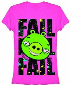 Angry Birds Women's Printed T-Shirt Splatter Fail BLOWOUT SALE!