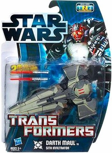 Star Wars 2012 Transformers Darth Maul to Sith Infiltrator